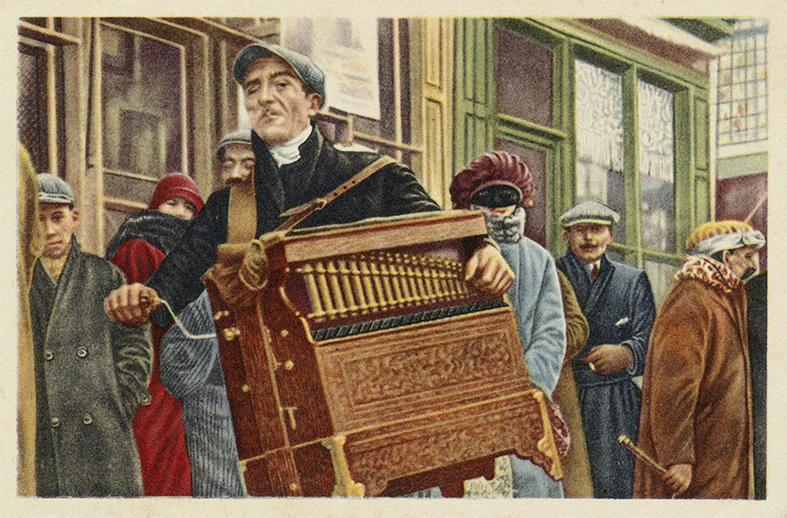 Lirekassemand fra Belgien, første halvdel af 1900-tallet.