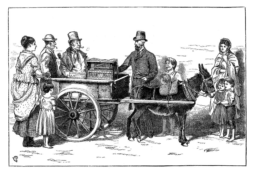 The Nobleman, en gentleman og lirekassemand på tur gennem de irske provinser med engelsk lirekassemusik.